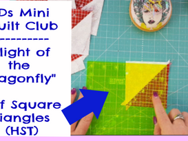 DDs Mini Quilt Club | Flight of the Dragonfly | How to Sew Half Square Triangles | HST