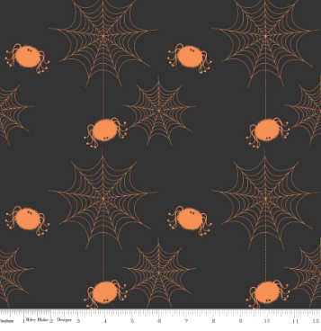 Holiday Spider Web - Black - By Riley Blake Designs