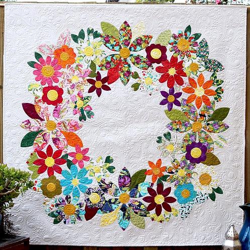 Flowering Wreath - Designed by Carolyn Murfitt -Free Bird Designs