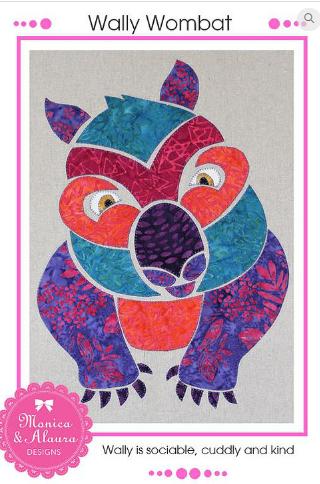 Wally Wombat - Monica Poole Designs