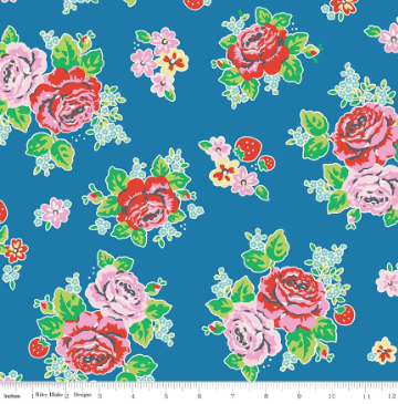 Strawberry Biscuit By Elea Lutz- For Penny Rose Fabrics BLUE