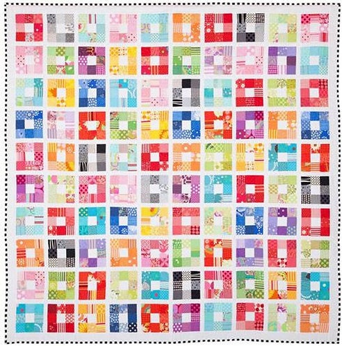 Emma Jean Jensen - Coloured Squared Quilt Pattern -- Creative Card Pattern only-