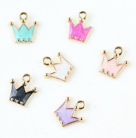 Zipper charms - Crowns