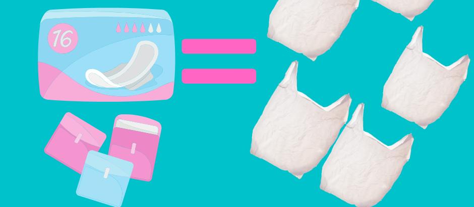 ผ้าอนามัย 1 ห่อ เท่ากับถุงพลาสติก 5 ใบ