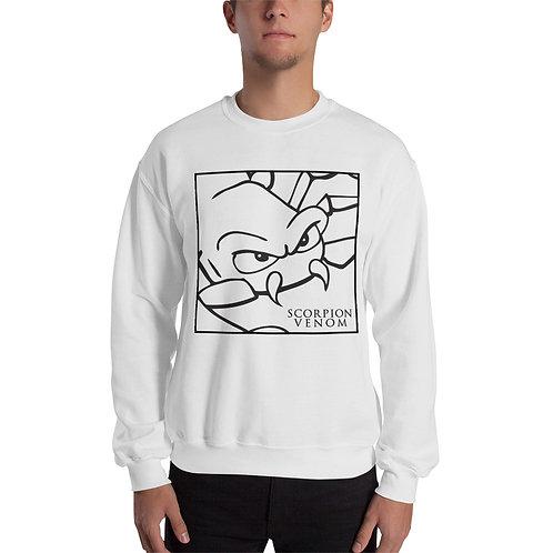 Unisex Scorpion Venom White Sweatshirt