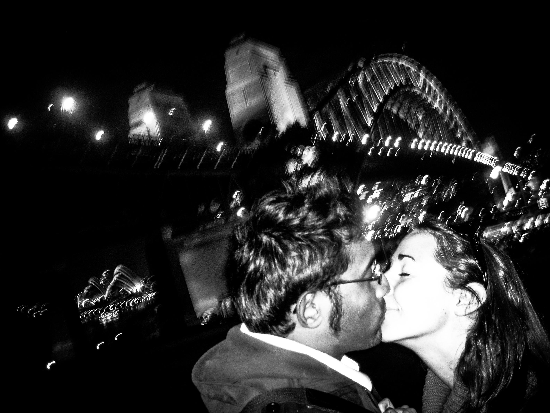 Sydney Harbour Bridge Kiss