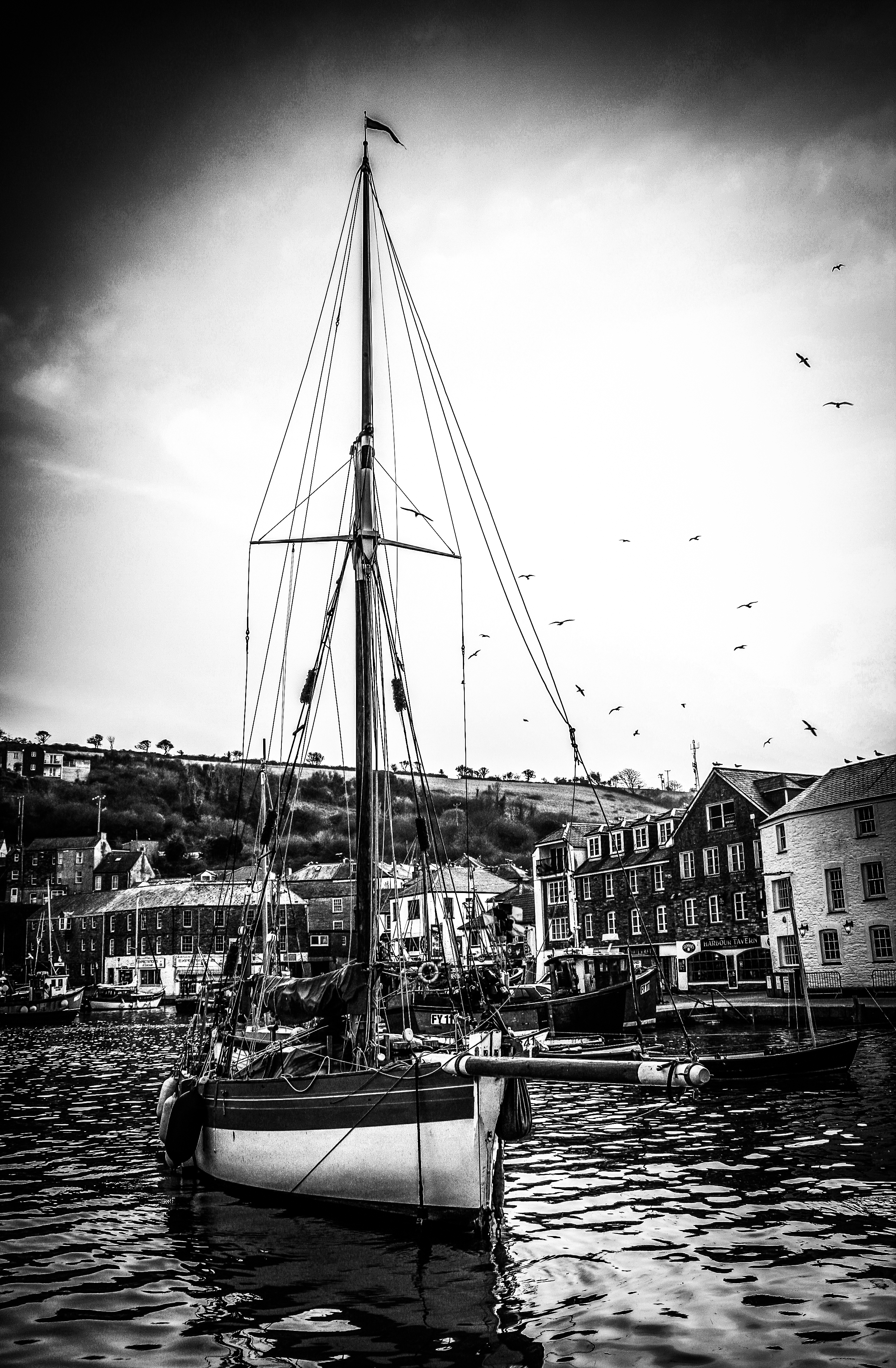 Mevagissey Harbour Boat