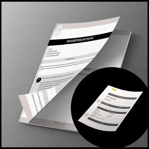 Duo Guide créer une description de poste & modèle description de poste