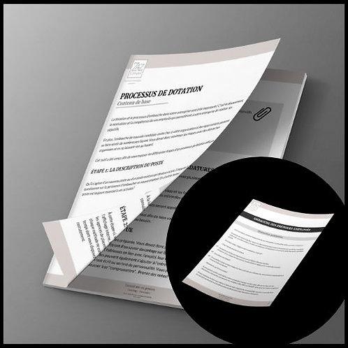 Duo Guide planifier dotation & Check- list d'embauche du premier employé