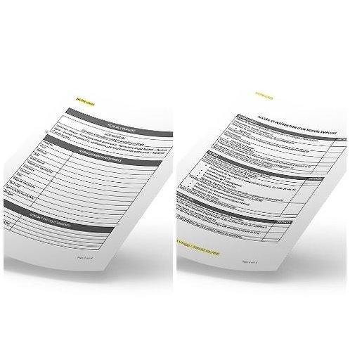 Duo Modèle fiche employé &  Check list accueil et intégration