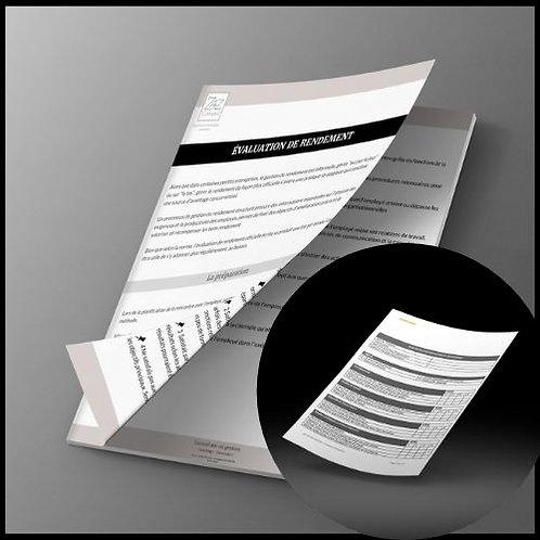 Duo Guide bâtir une évaluation de rendement & modèle évaluation de rendement