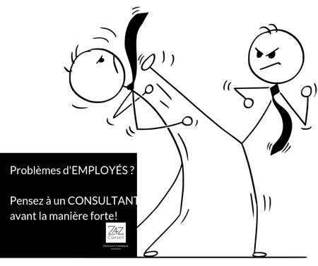 Employés qui n'atteignent pas les attentes? Le consultant en gestion est peut-être la solution!