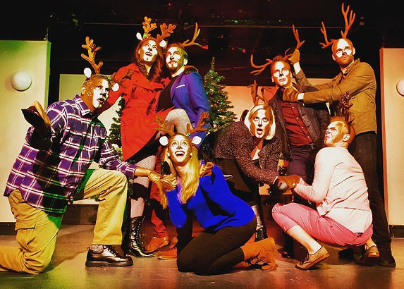 The Eight: Reindeer Monologues Play Cast Photo