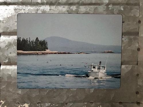 Rockland, ME Fishing Boat Magnet