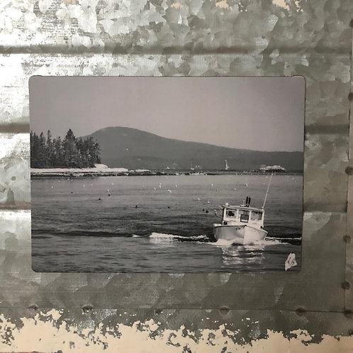 B&W Rockland, ME Fishing Boat Magnet
