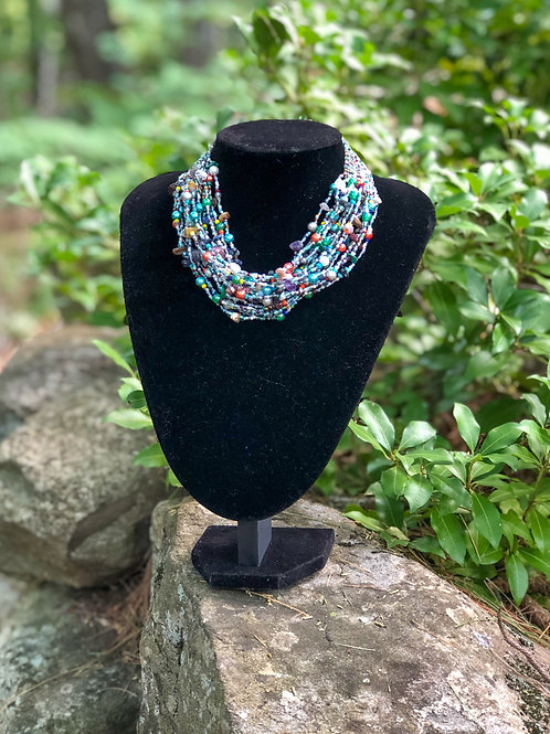 Multi Strand and Weave Necklace