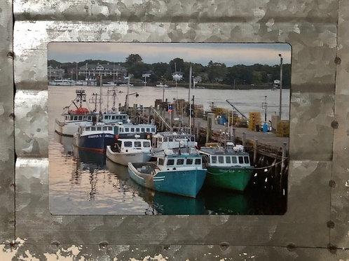 Portsmouth Harbor Fishing Boats Magnet
