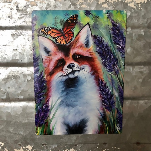The Fox and the Butterfly Magnet