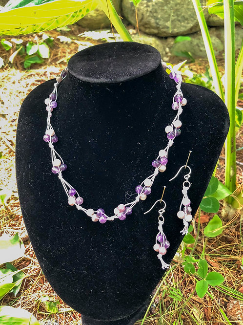 Amethyst and Lilac Stone Set