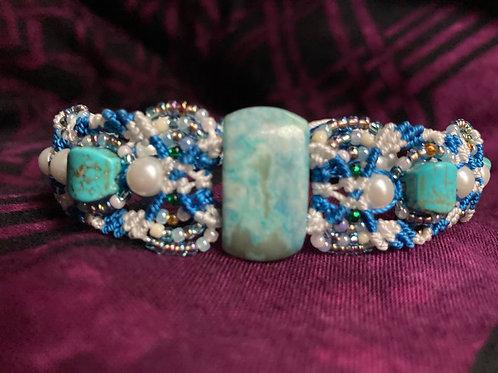 Blue Magnesite Bracelet