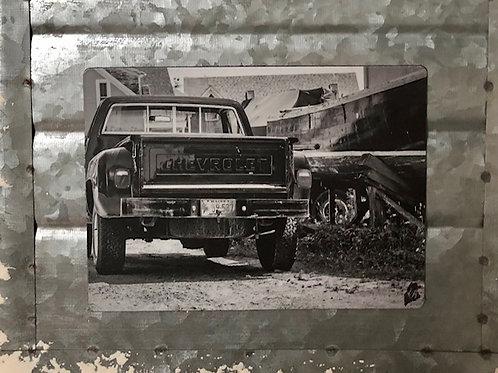 B&W Chevrolet Truck Magnet
