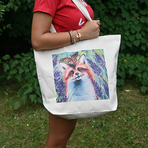 The Fox and the Butterfly Tote