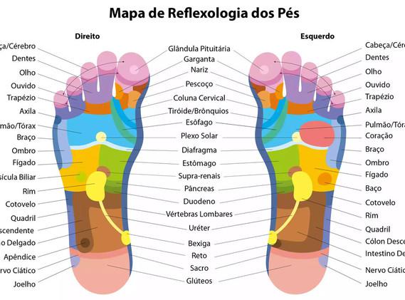 Mapa reflexologia podal
