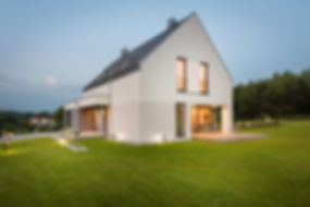 New design light house with wide lawn an