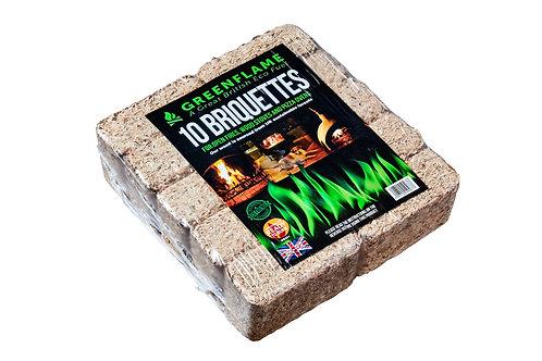 Greenflame Briquettes (10 pieces)