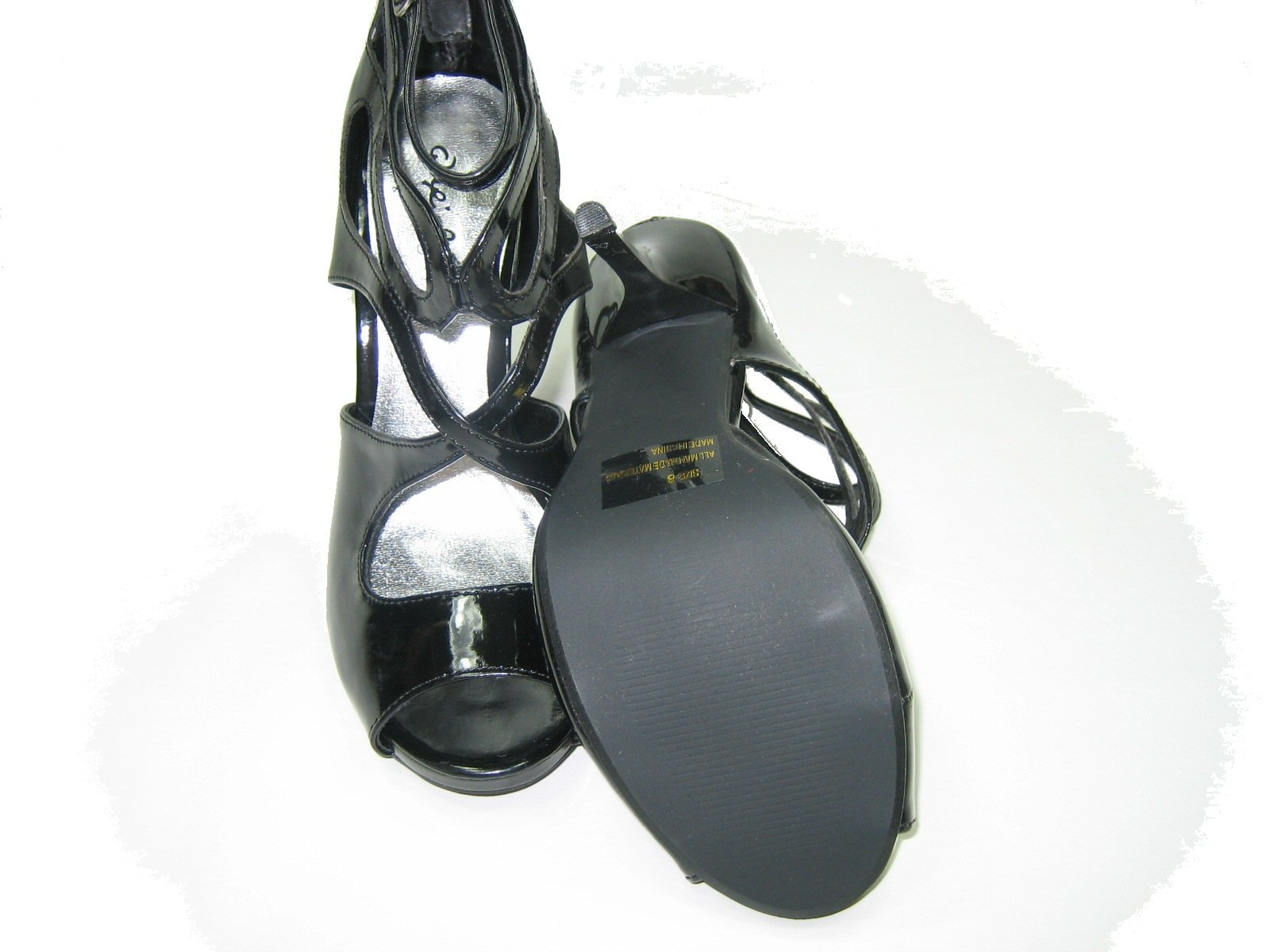 950d7fd8795 Qupid Demand-216 strappy pumps 5 inch stiletto high heel shoes black patent