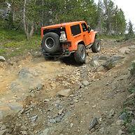 Boulder Lake, Sheridan, JK rough trail f