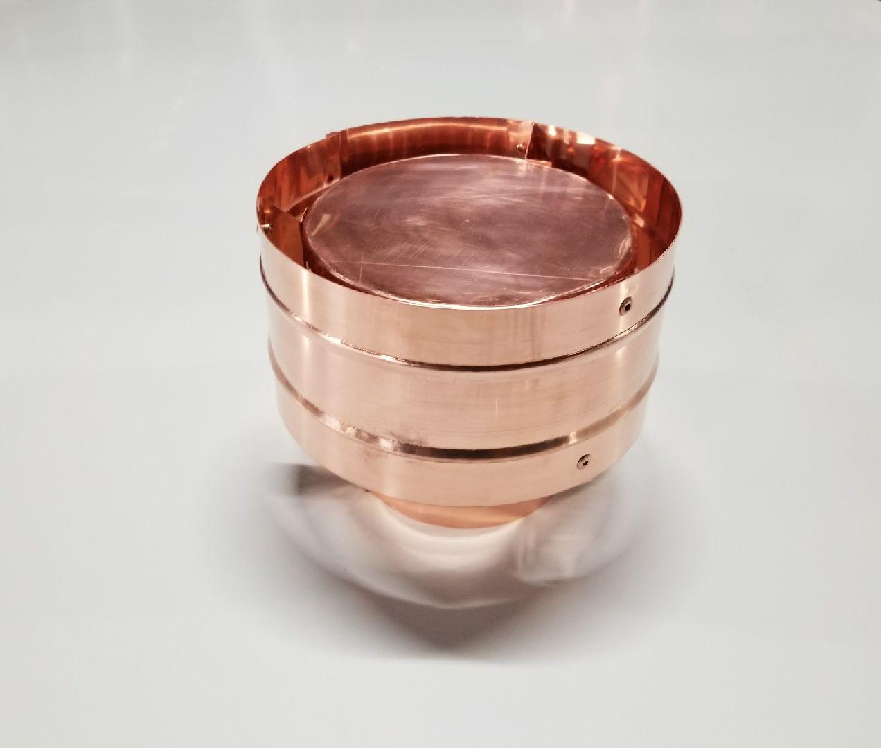 Copper Round Caps
