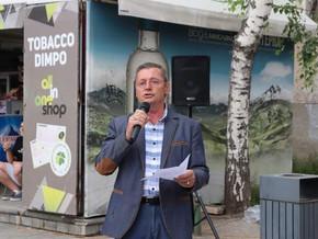 На протестот во Битола свое обраќање имаше Бурлијовски, за новата капитулација со Бугарскиот договор