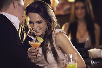Woman Drinking Cocktail