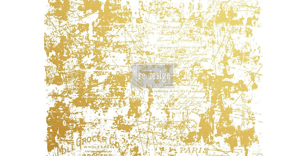 Gilded Distressed Wall