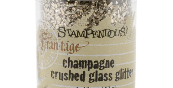 Stampendous Champagne Crushed Glass Glitter