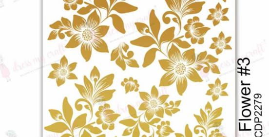 3D Gold Flower 3