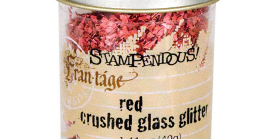 Stampendous Red Crushed Glass Glitter
