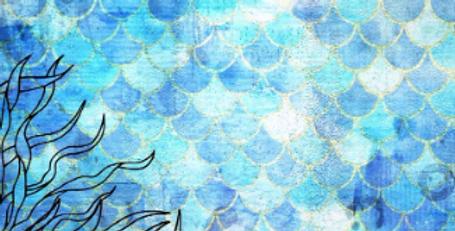 Deep Blue Mermaid Scales