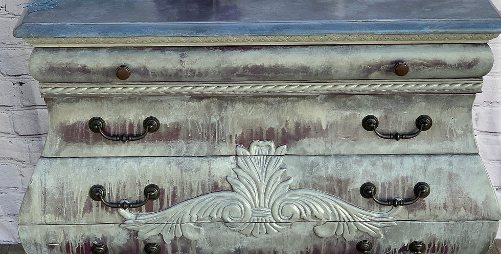 """Weathered Plum"" Bombay Chest"