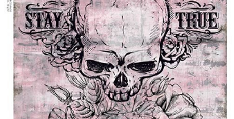 Illustrated Grunge Skull