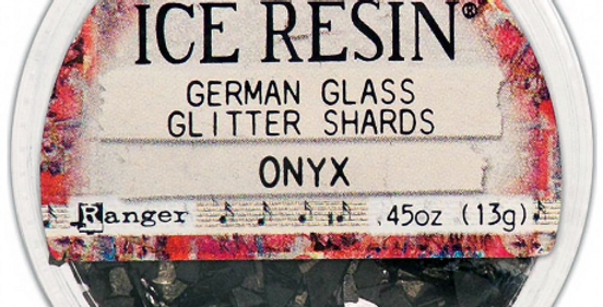 Onyx Ice Resin Glass Glitter Shards