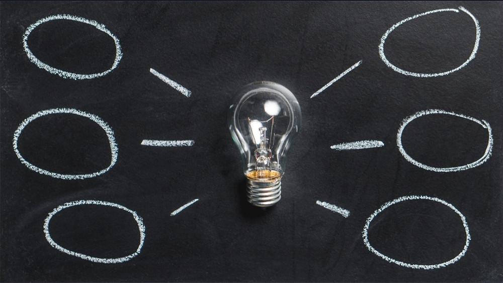lampu bohlam mind map kreativitas untuk menemukan inovasi
