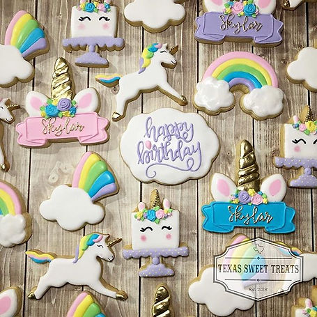 Unicorn cookies for a very special birth