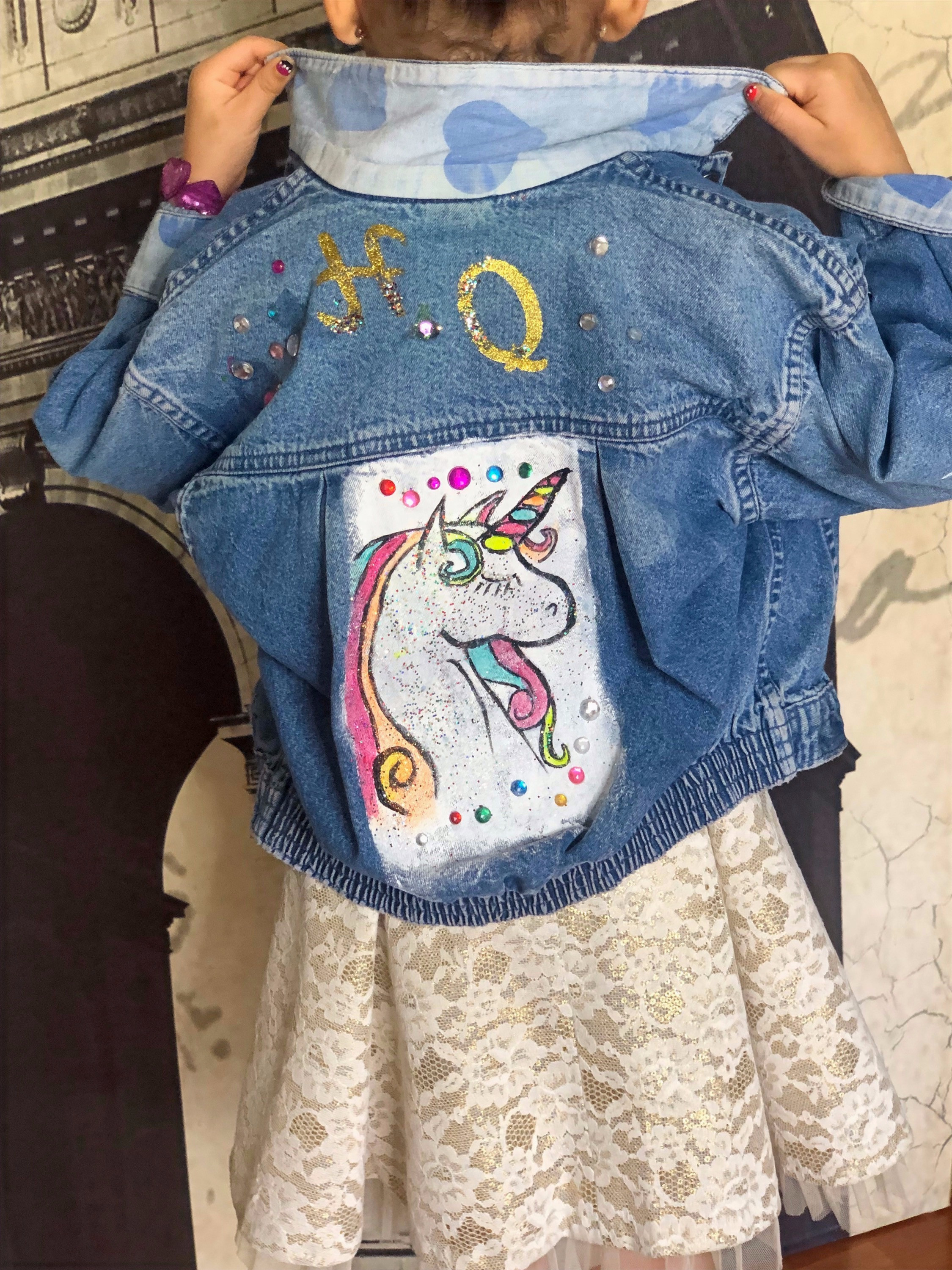 Paint on Jean Jacket Private Party