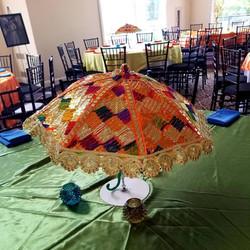 Colorful Mehndi Umbrella Centerpiece
