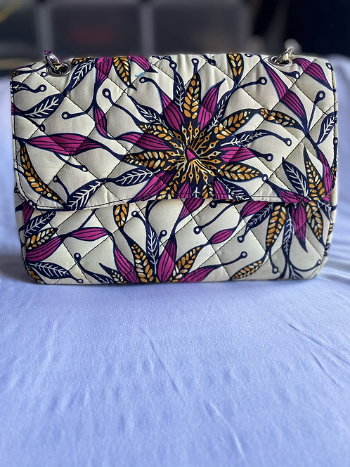Beautiful floral fabric bag with strap