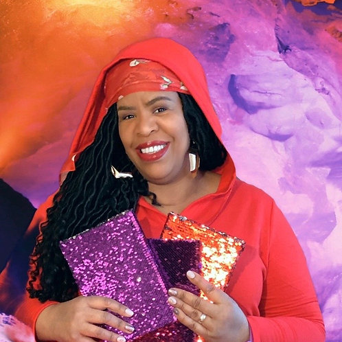 Purple Sequin hardcover journal