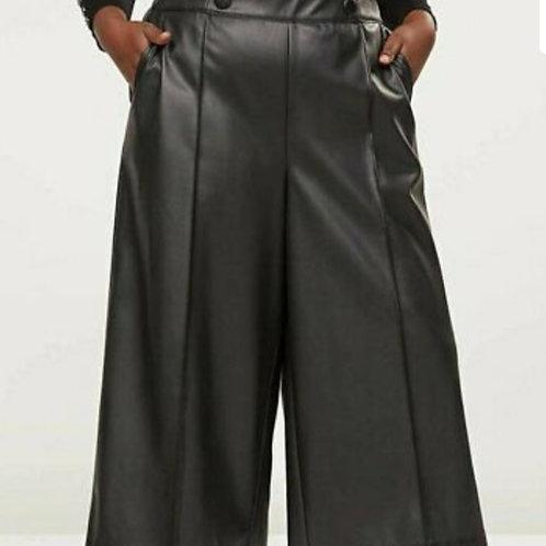 Lane Bryant vegan leather culottes, sz 26/28