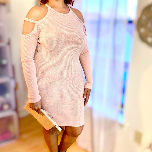 Pink Fashion Nova knit dress size large